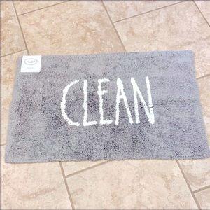NWT Rae Dunn CLEAN Gray Bathmat